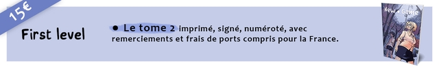 New Game First level Le tome 2 imprime, signe, numerote, avec remerciements et frais de ports compris pour France.