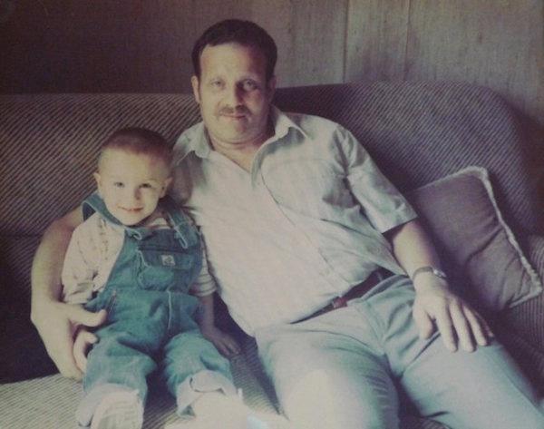 Alan Deprez et Max, son grand-père maternel