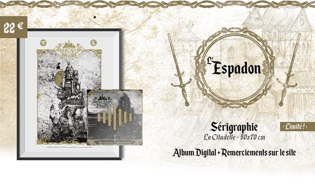 22 Espadon Serigraphie Limite! La Ciladelle 50x70 cm Album Digital + Remerciements sur le site