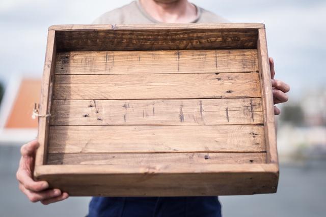 Handgemaakt dienblad uit hout
