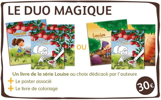 LE DUO MAGIQUE Louice ouice acolorior colorier OU Un livre de la serie Louise au choix dedicace par I'auteure Le poster associe Le livre de coloriage 30