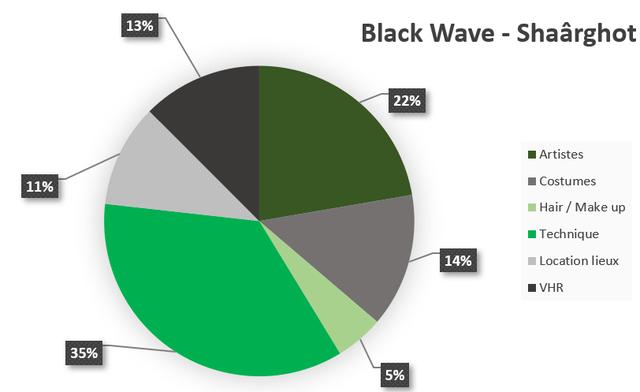 13% Black Wave - Shaarghot 22% Artistes 11% Costumes Hair / Make up Technique 14% Location lieux VHR 35% 5%