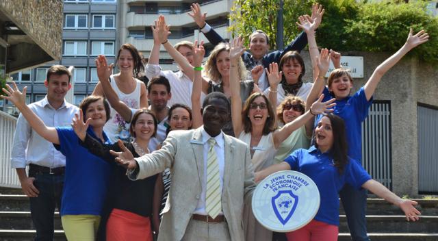L'équipe de la JCE Clermont avec le Président National 2013 de la JCEF