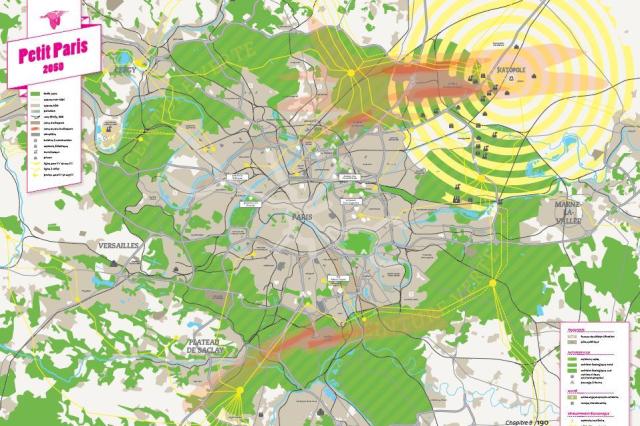 la carte du Petit Paris en 2050