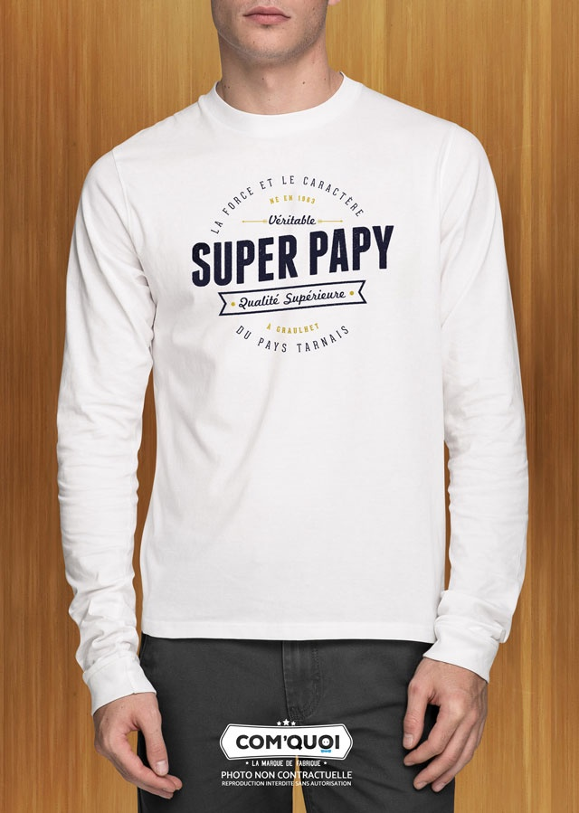 T-shirt Homme «Super Papy»