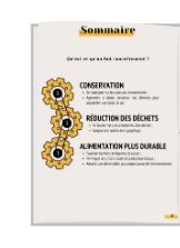 Sommaire CONSERTAATION DECHETS ALIMENLATION PLUS DURABLE
