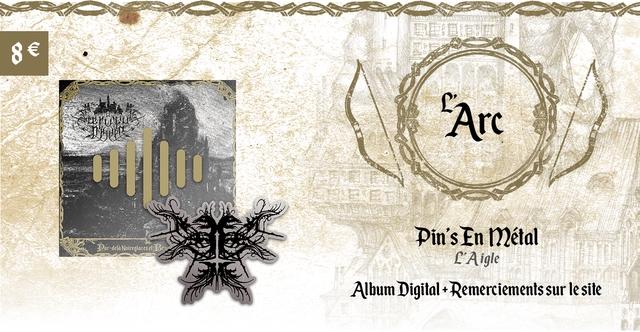Arc Pin's En metal ar-dela Noireglaces PAigle Album Digita + Remerciements sur le site
