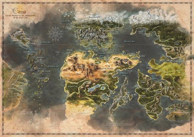 Carte du monde D'Eana