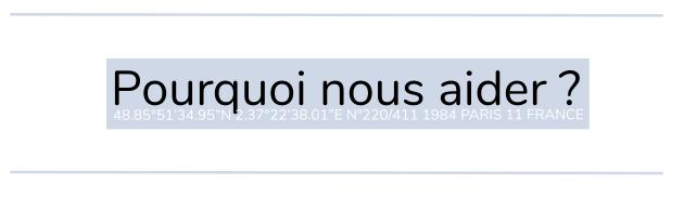 """Pourquo nous aider ? 7922'38.01""""E N9220/411 1984 PARIS 11 FRANCE"""