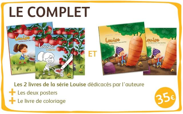 LE COMPLET A louige Louice ET Les 2 livres de la serie Louise dedicaces par I'auteure Les deux posters Le livre de coloriage 35e