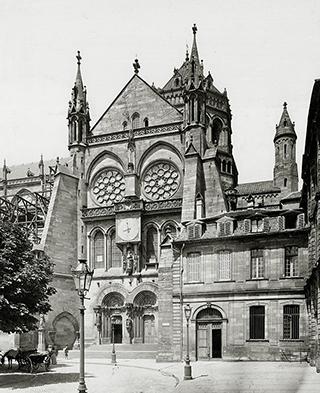 Bras sud du transept en 1897