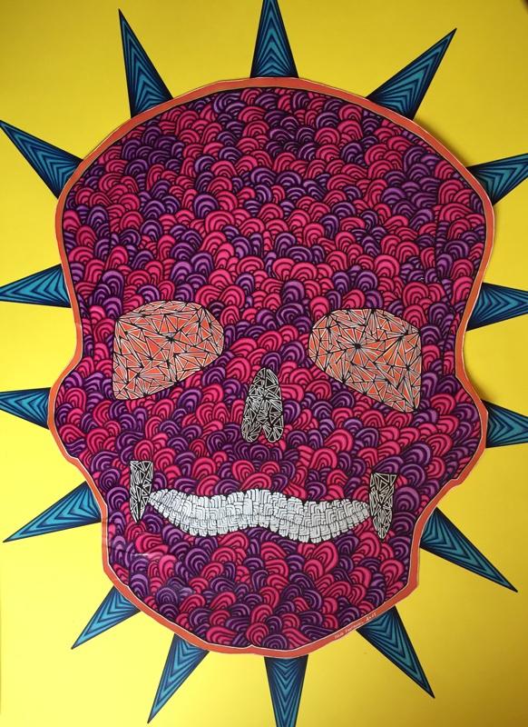 Deak Heak , le mexicain 50 cm x 70 cm