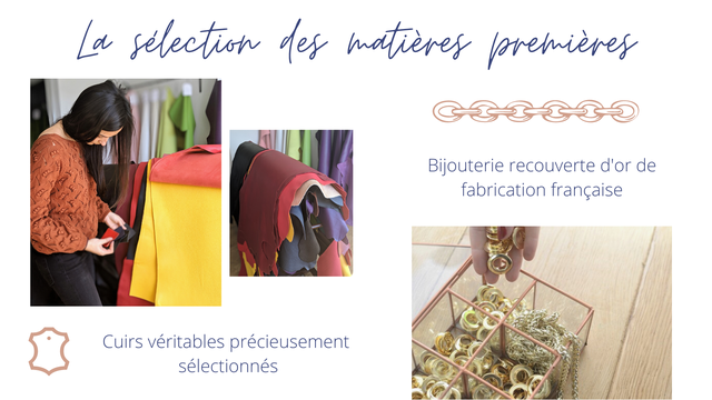 gelection des Bijouterie recouverte d'or de fabrication francaise Cuirs veritables precieusement selectionnes