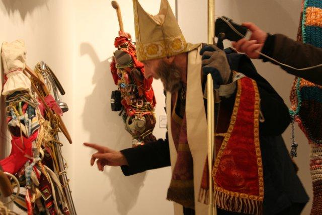 Jean-Pierre Rotenne lors de l'inauguration du Art et marges musée
