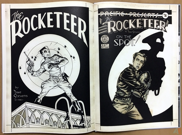 DOCKET Z *2 ROCKETEER Stevens CIA ON THE COMIC SPOT $ $1.25 CANADA Dave tevens 1982 $