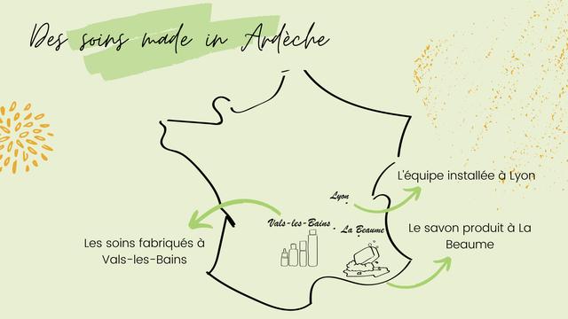 foins mode Ardeche L'equipe installee a Lyon Lyon Vals-les-Bains - les - - La Beaume Le savon produit a La Les soins fabriques a Beaume Vals-les-Bains