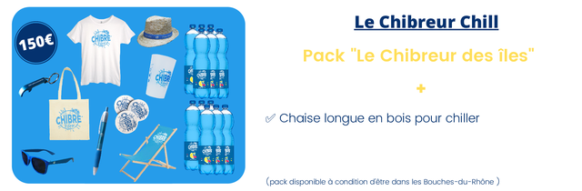 """Le Chibreur Chill 1506 CHIBRE Pack """"Le Chibreur des iles"""" CHIBR CHIBRE Chaise longue en bois pour chiller Bleu (pack disponible a condition d'etre dans les Bouches-du-Rhone)"""