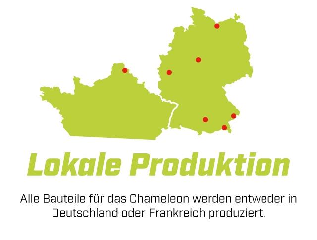 Lokale Produktion Alle Bauteile fur das Chameleon werden entweder in Deutschland oder Frankreich produziert.
