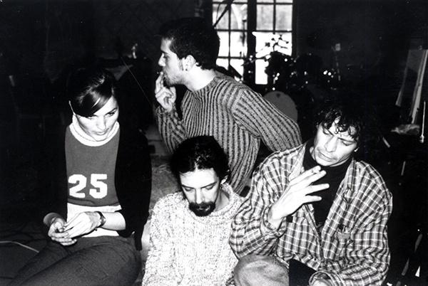De gauche à droite Cécile, Grégoire, Bruno (en bas), Fred