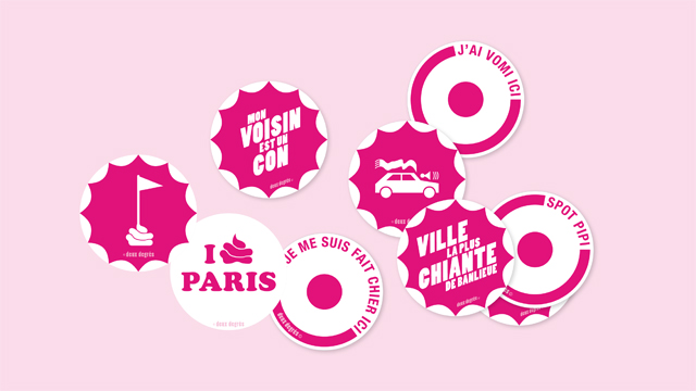 stickers deux degrés Petit Paris