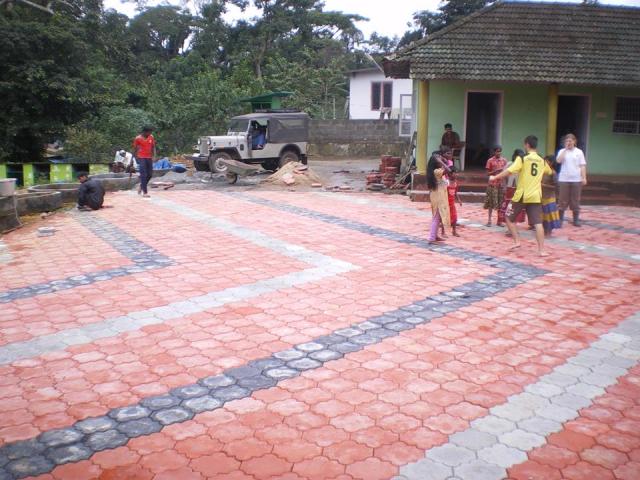Carrelage réalisé par une équipe de 2012-2013