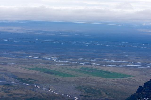 Hvannadalshnjúkur ascension, vue vallée horizon Skaftafell
