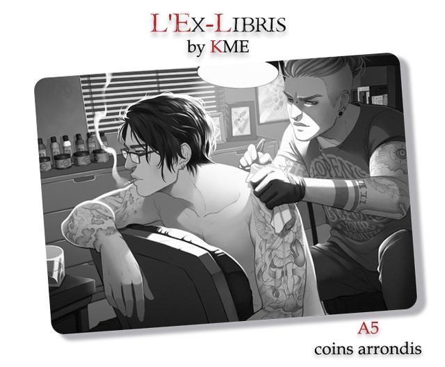 L EX-LIBRIS by KME A5 coins arrondis