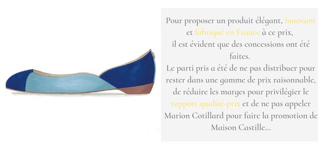 Produit élégant français pas cher, chaussure française abordable