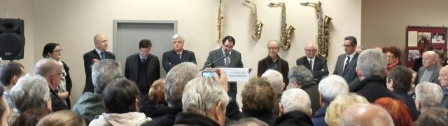 Mécènes, partenaires et officiels lors de l'inauguration d'Orphée
