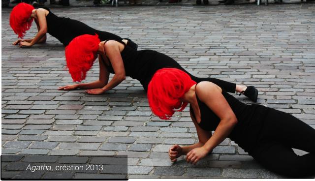 Agatha, création 2013, Bérangère Roussel - représentation hors les murs pour la Fête de la danse