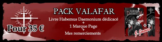 PACK VALAFAR HABEMUS D Livre Habemus Daemonium dedicace + Pour 35 E 1 Marque Page + Mes remerciements