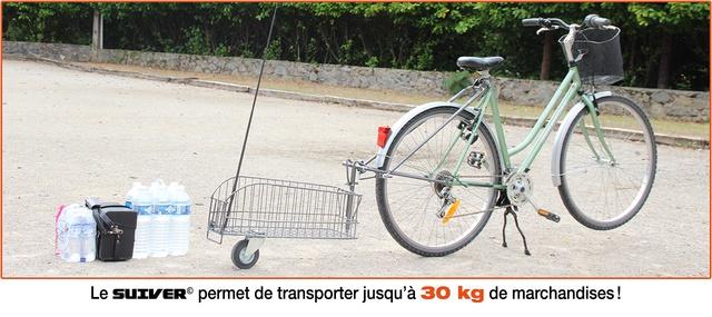 Le SUIVER © offre  la possibilité de transporter jusqu'à 30 kg de marchandises…
