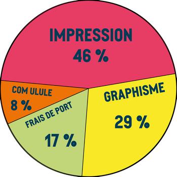 IMPRESSION 46% COM ULULE GRAPHISME 8% 29% 17%