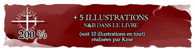 + 5 ILLUSTRATIONS N&B DANS LE LIVRE 200 % (soit 10 illustrations en tout) realisees par Kme