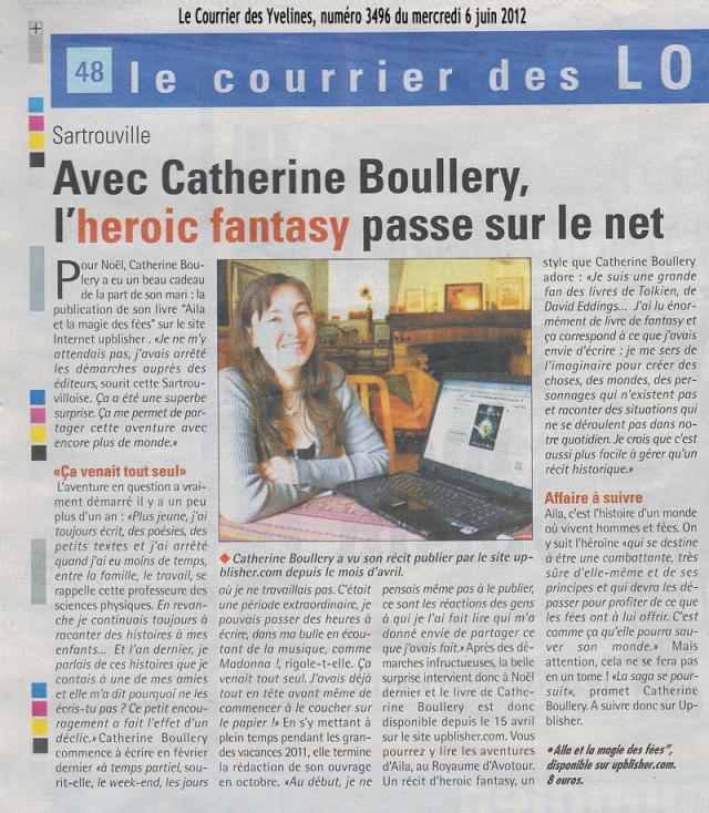 La presse découvre la saga de fantasy - Le Courrier des Yvelines, numéro 3496 du 6 juin 2012, page 48