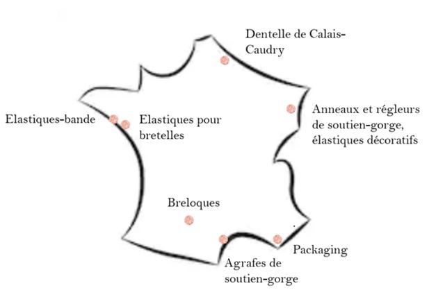 Dentelle de Calais- Caudry Anneaux et regleurs Elastiques-bande Elastiques pour de soutien-gorge, bretelles elastiques decoratifs Breloques Packaging Agrafes de soutien-gorge