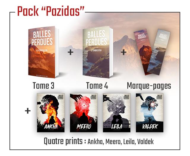 "Pack ""Pazidas' BALLES BALLES PERDUES PERDUES + Tome 3 Tome 4 Marque-pages + ANKHA MEERO LEILA VALDEK Quatre prints Ankha, Meero Leila, Valdek"