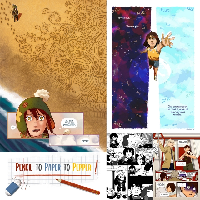 Exemples d'illustrations et planches de BD présentes dans le livre