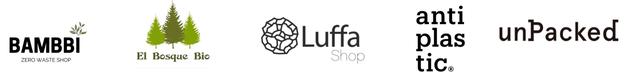 anti BAMBBI Luffa plas unPacked ZERO WASTE SHOP Bosque Bio Shop tic.