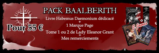 PACK BAALBERITH Livre Habemus Daemonium dedicace Pour 55 1 Marque Page Tome 1 ou 2 de Lady Eleanor Grant Mes remerciements ou