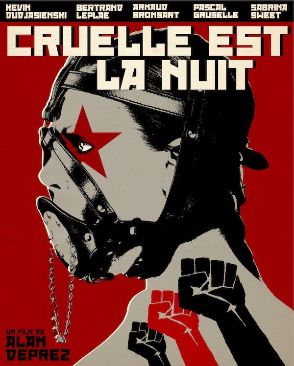Affiche de Cruelle est la nuit par Gilles Vranckx