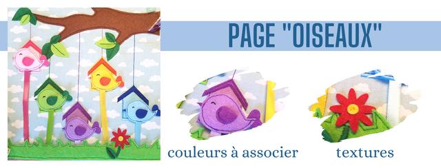 PAGE 'OISEAUX couleurs a associer textures