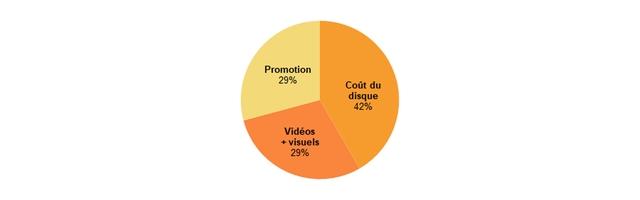 Promotion 29% Cout du disque 42% Videos + visuels 29%