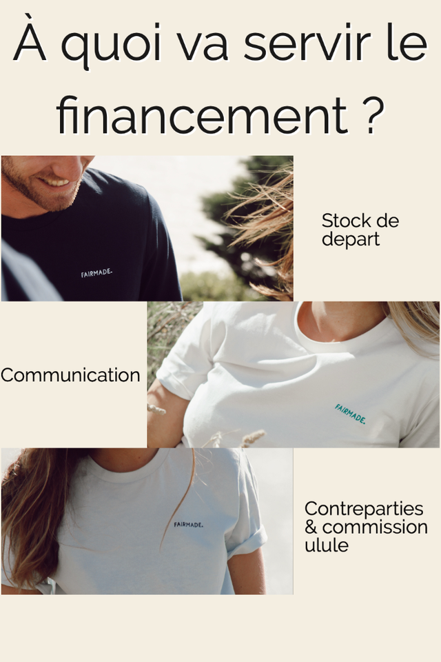 A quol va servir le financement ? Stock de depart FAIRMADE Communication Contreparties FAIRMADE. & commission ulule