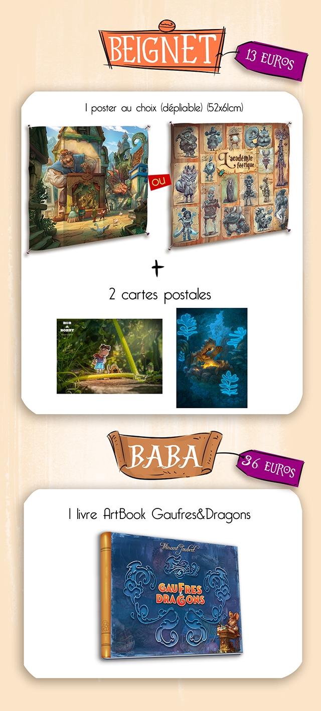 BEIGNET 13 EURos I poster choix ldepliable) (52x6lcm) acadeinie fterique + 2 cartes postales BABA BABA 36 EUROs I livre ArtBook Gaufres&Dragons GAU GAUFRES FRES DRAGONS