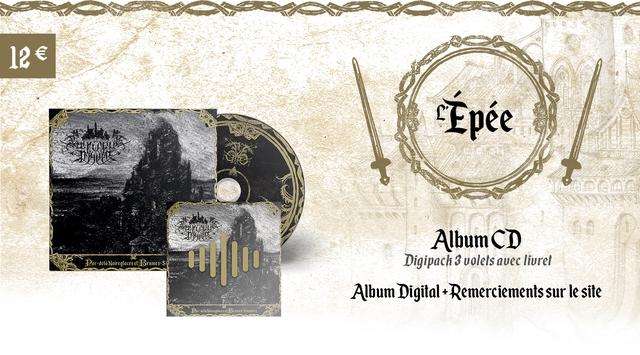 le Epee Album CD Par-dela Noireglaces Brumes Digipach 3 volets avec livrel Album Digita + +Remerciements sur le site