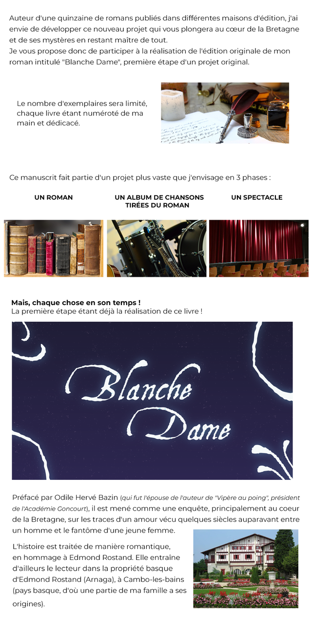 Projet Blanche Dame Ulule