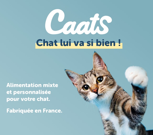 Caats Chat lui va si bien Alimentation mixte et personnalisee pour votre chat. Fabriquee en France.