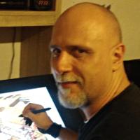 Christophe Palma, illustrateur du jeu de société Opération Archéo