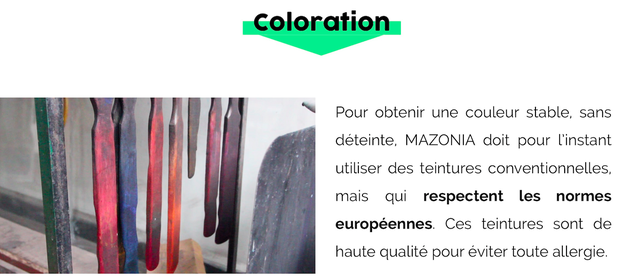 Coloration de l'ivoire végétal - Mazonia